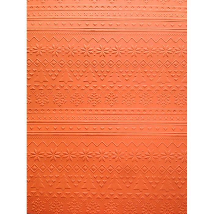 Оранжевая бумага с тиснением зимний свитер А4 для скрапбукинга