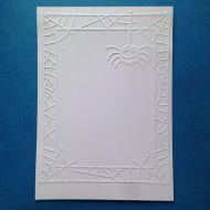 Рамка из паутины с паучком, тисненый картон