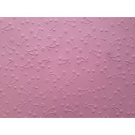Розовая бумага с тиснением вишенки А4
