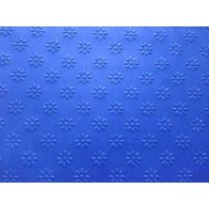 Ярко-синяя бумага с тиснением ромашки А4