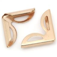 Уголок треугольник розово-золотой  16х16 мм