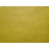 Ярко-жёлтая бумага с тиснением бабочки А4