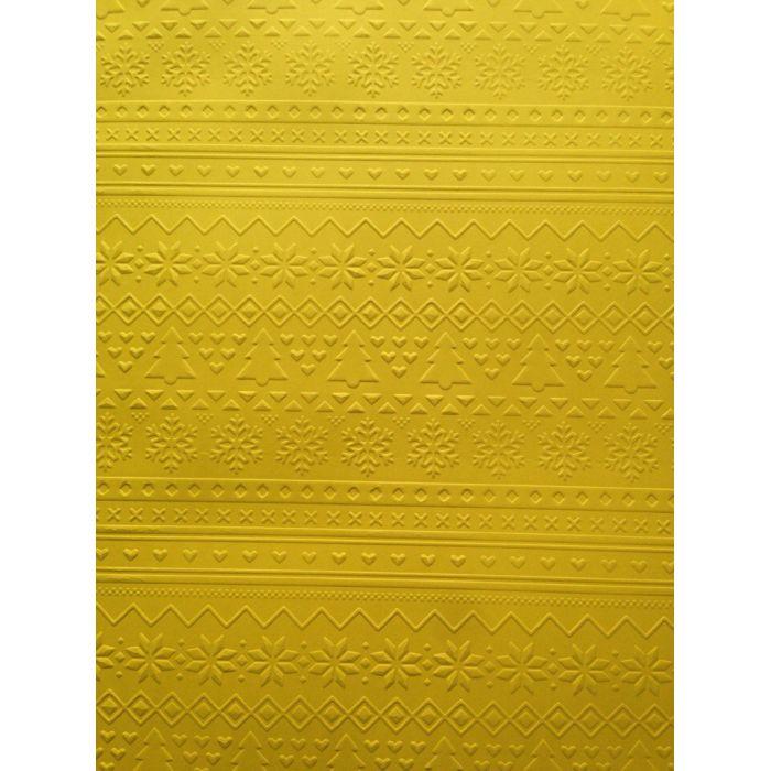 Ярко-жёлтая бумага с тиснением зимний свитер А4 для скрапбукинга