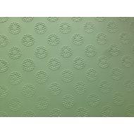 Зелёная бумага с тиснением цветы А4