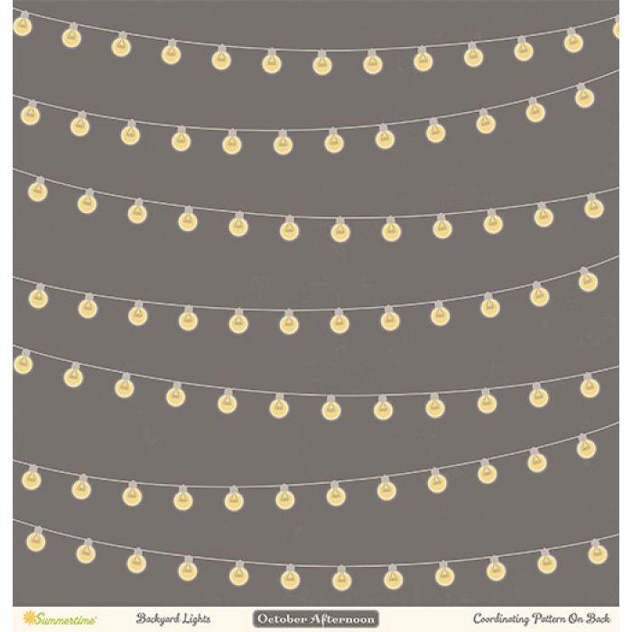 Бумага Backyard Lights, коллекция Summertime для скрапбукинга