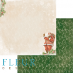 Бумага дед мороз, коллекция новогодняя ночь