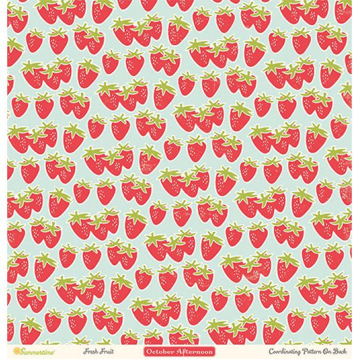 Бумага Fresh Fruit, коллекция Summertime для скрапбукинга