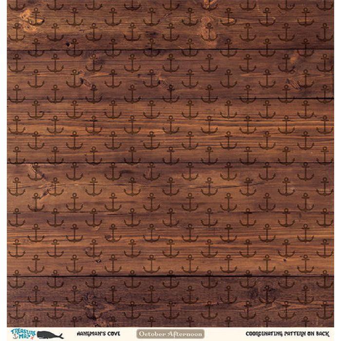 Бумага Hangman's Cove, коллекция Treasure Map для скрапбукинга