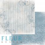 Бумага изморозь на голубом, коллекция шале