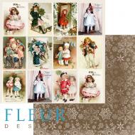 Бумага карточки, коллекция новогодняя ночь