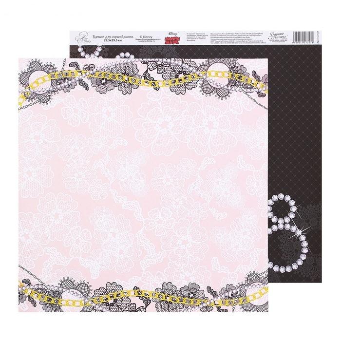 Бумага кружевные цветы, коллекция Stylish club для скрапбукинга