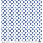 Бумага синий горошек, коллекция побережье
