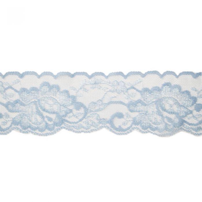 Эластичное голубое кружево 50 мм для скрапбукинга