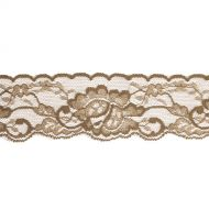 Эластичное коричневое кружево 50 мм