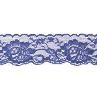 Эластичное синее кружево 50 мм