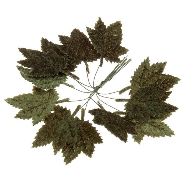 Кленовый лист бархатный  для скрапбукинга