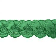 Кружево капрон зеленое 45 мм