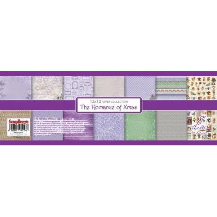 Набор бумаги новогодний пейзаж 30,5 х 30,5 см для скрапбукинга
