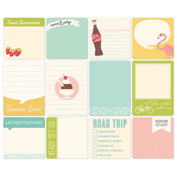 Набор карточек, коллекция Summertime для скрапбукинга