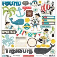 Набор наклеек, коллекция Treasure Map