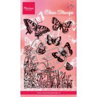 Набор штампов бабочки и цветы