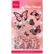 Набор штампов бабочки и маки