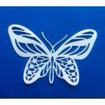 Бабочка 2, вырубка из белого картона