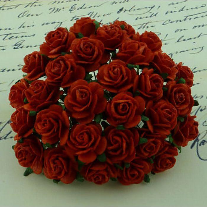 Розы красные, 25 мм для скрапбукинга