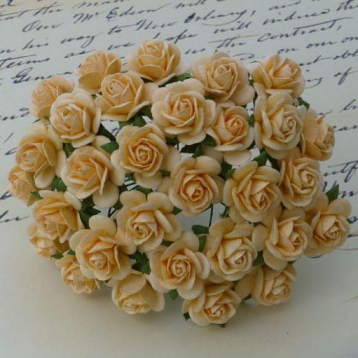 """Розы """"Осеннее золото"""", 25 мм для скрапбукинга"""