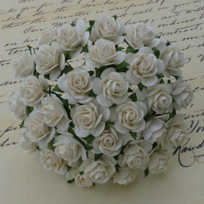 Розы цвета слоновой кости, 20 мм для скрапбукинга