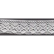 Кружево хлопчатобумажное белое, 30 мм