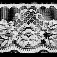 Кружево-трикотаж белое, 75 мм