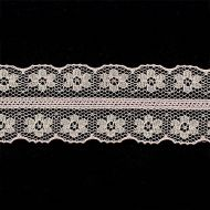 Кружево-трикотаж розовое, 27 мм