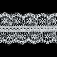 Кружево-трикотаж белое, 30 мм
