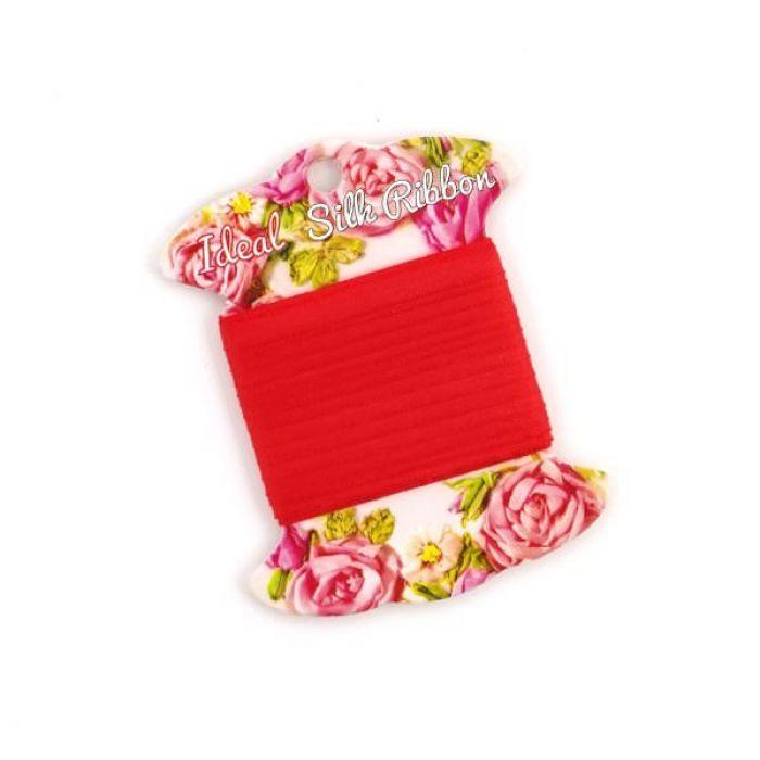 Лента шелковая красная, 2 мм для скрапбукинга