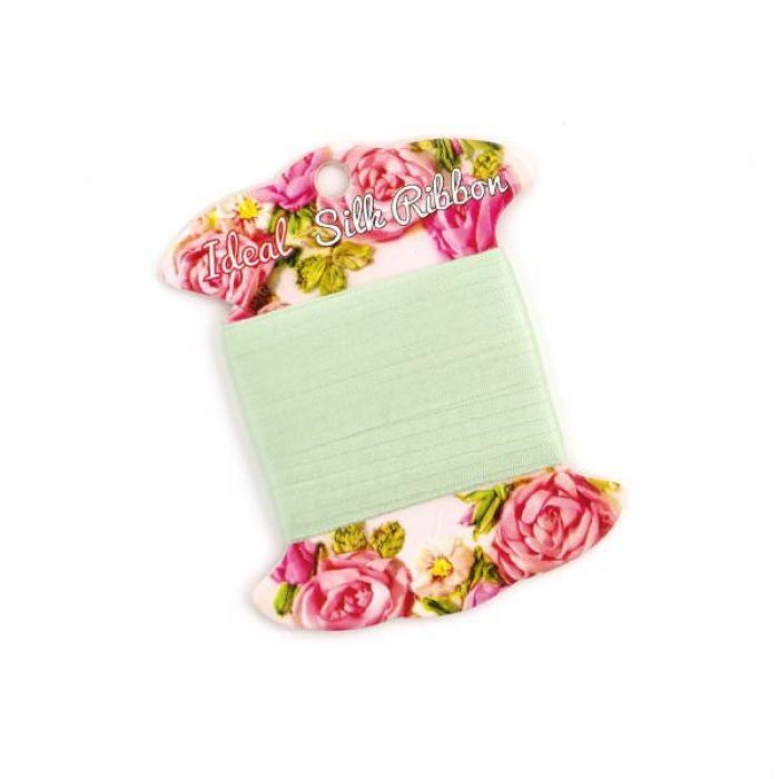Лента шелковая цвета зеленого чая, 2 мм для скрапбукинга