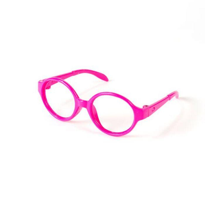 Очки без стекла розовые круглые, 7 см для скрапбукинга