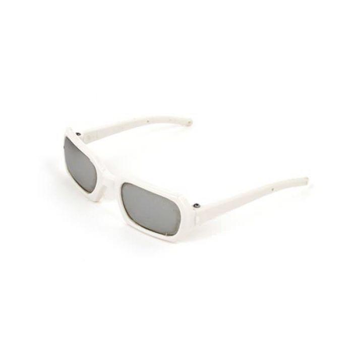 Очки со стеклом белые, 7см для скрапбукинга