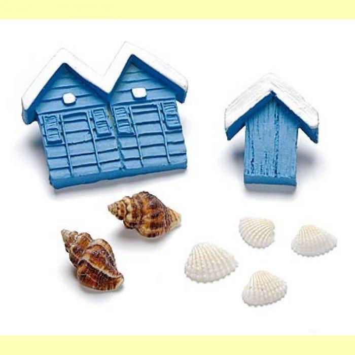 """Набор декоративных элементов """"Морской домик"""" для скрапбукинга"""