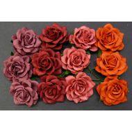 Розы, красная смесь, 35 мм