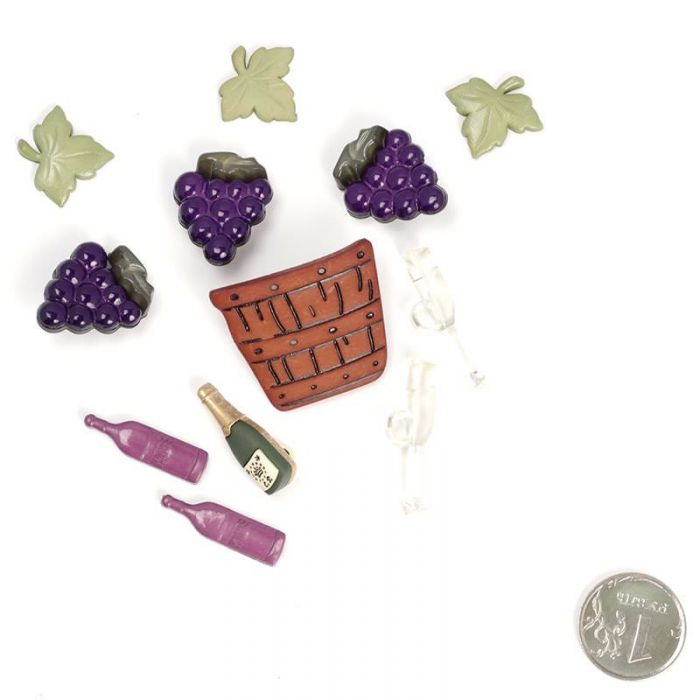 Набор пуговиц Винодел для скрапбукинга