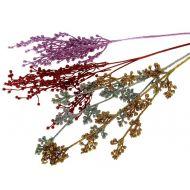 Декор блеск Ветка с ягодами серебряная