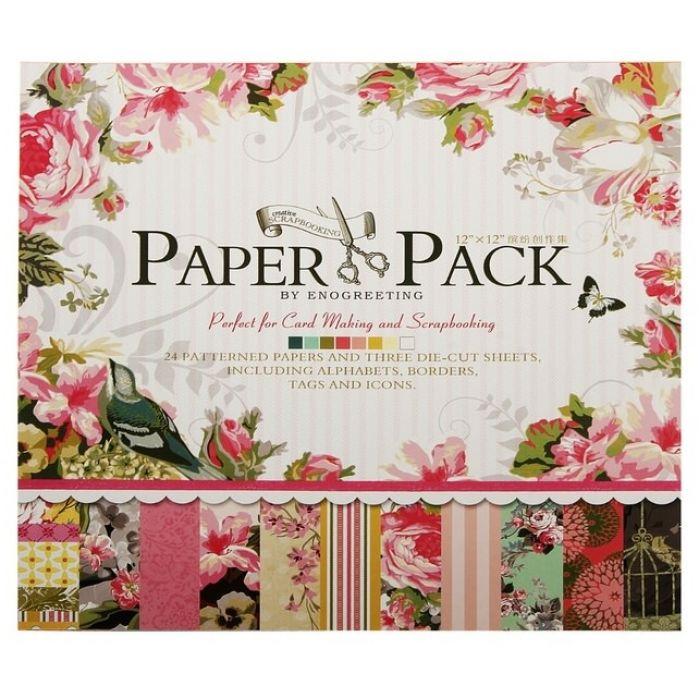 Набор бумаги Цветочный рай, 30*30 см  для скрапбукинга