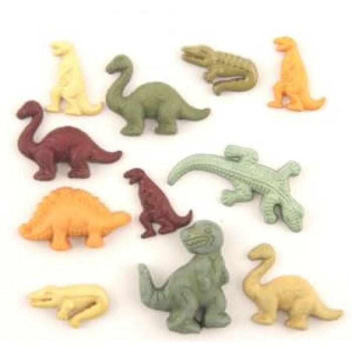 Набор пуговиц Динозавры для скрапбукинга