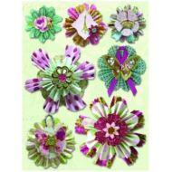 3-D наклейки Фантастические цветы