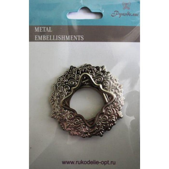 Набор рамок металлических Ажурные для скрапбукинга