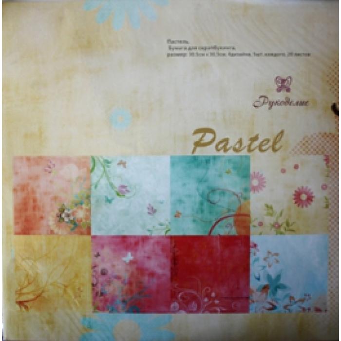 Набор бумаги Пастель 30 х 30 см для скрапбукинга