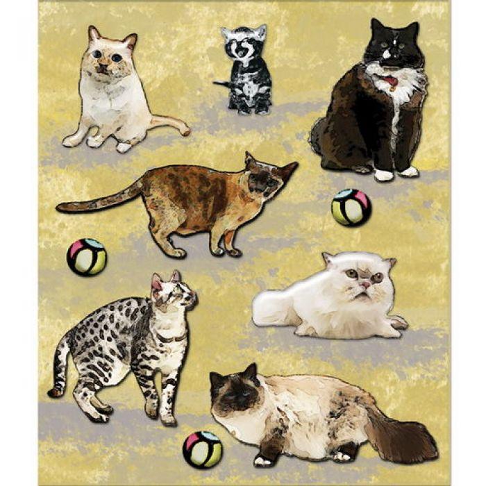 3-D наклейки котики из коллекции маленькие радости жизни для скрапбукинга