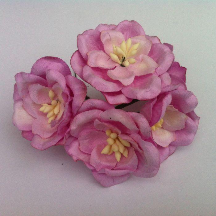 Цветы магнолии сиреневые для скрапбукинга
