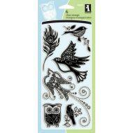 Набор штампов игры каменных птиц